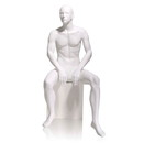 Econoco GEN-5H Male Mannequin - Abstract Head, Seated, 73