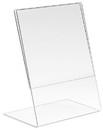 "Econoco HP-CT57V-SB 5-1/2""W x 7""H Acrylic Vertical Slantback for Counter Top"