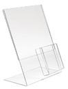 "Econoco HP-SH-LP1 8-1/2""W x 11""H Acrylic Slantback w/ 4"" Pocket for Counter Top"