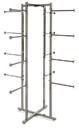 Econoco K35 Folding Lingerie Tower - Square Tubing w/ Round Tubing Arms, 61