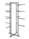 Econoco K36 Folding Lingerie Tower - Square Tubing w/ Rectangular Tubular Arms, 61