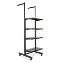 "Econoco K400-B Frame w/ 4-24"" Shelves and 2-16"" Arms; 1"" x 2"" Rectangular Tubing, 24"