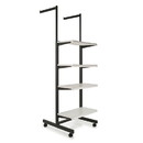 "Econoco K400-W Frame w/ 4-24"" Shelves and 2-16"" Arms; 1"" x 2"" Rectangular Tubing, 24"