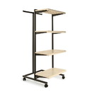 "Econoco K410-AL Frame w/ 4-24"" Shelves and 1 T-Stand; 1"" Square Tubing, 24"