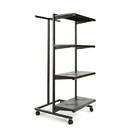 "Econoco K410-B Frame w/ 4-24"" Shelves and 1 T-Stand; 1"" Square Tubing, 24"