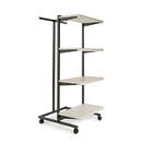 "Econoco K410-W Frame w/ 4-24"" Shelves and 1 T-Stand; 1"" Square Tubing, 24"