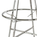 Econoco KH7 Set of 4 Adjustable Clamps for Double Hanging Round Racks, Chrome