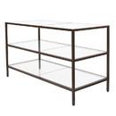 Econoco LNTBL2 3-Shelf Merchandising Table, Finish: Statuary Bronze