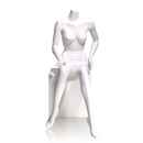 Econoco MGF5-HL Female Mannequin - Headless, Seated, Right Hand on Knee, Left on Hip, 55