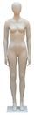 Econoco PEF-AHMW Female Mannequin w/ Oval Head, with straight legs and arms., Milky White