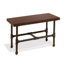 Econoco PSDTSET Pipeline Small Display Table with Top, Dark Brown Wood Grained Melamine