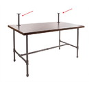 Econoco PSNTTOP Pipeline - Nesting Table Topper Frame Only, Anthracite Grey