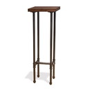 Econoco PSTTSET Pipeline Tower Table, Dark Brown Wood Grained Top