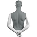 Econoco SYM-C109 Male Arms - Hands Behind Back, White