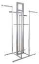 Econoco T502FRSC Cross Merchandising 4-Way Rack - Frame Only, 44