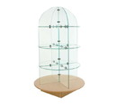 Econoco WDGLRDMP Glass Merchandiser with Round base, 30