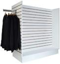 Econoco WDSWH48WH Gondola Slatwall Merchandiser - White, 24