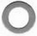 EDMO NAS1149FN832P Washer/Carbon Steel, #8, .032
