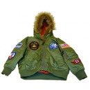 Flightline 2007B-M Snorkel Jacket/Sage Green, Kids Medium Size 5