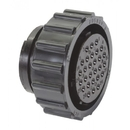 Te Connectivity 205839-3 Circular Connector/Standard, Female, 28 Position, Free Hanging Mount, Threaded, Straight Angle