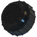 Te Connectivity 205842-1 Circular Connector/Series Ii, Standard, Female, 63 Position, Free Hanging Mount, Straight Angle, Threaded.