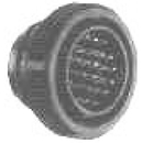 Te Connectivity 206039-1 Circular Connector/Male, 28 Position, Free Hanging Mount, Straight Angle, Threaded
