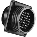Te Connectivity 206061-1 Circular Connector/Male, 4 Position, Panel Mount, Flange With Mounting Holes, Straight Angle, Threaded