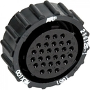 Te Connectivity 206125-1 Circular Connector/Female, 28 Position, Free Hanging Mount, Straight Angle, Threaded