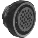 Te Connectivity 206126-1 Circular Connector/Female, 28 Position, Free Hanging Mount, Straight Angle, Threaded