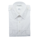 Van Heusen 57-306-155 Mens Aviator Style Shirt/Short Sleeve/White/Size 15.5