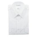 Van Heusen 57-306-17 Mens Aviator Style Shirt/Short Sleeve/White/Size 17