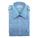 Van Heusen 57-307-165 Mens Aviator Style Shirt/Short Sleeve/Blue/Size 16.5