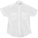 Van Heusen 58-473-6 Ladies Aviator Style Shirt/Short Sleeve/White/Size 6