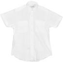 Van Heusen 58-473-6 Ladies Aviator Style Shirt/Short Sleeve/White/Size 6