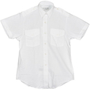 Van Heusen 58-473-8 Ladies Aviator Style Shirt/Short Sleeve/White/Size 8