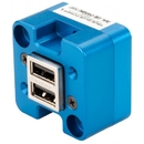 True Blue Power 6430102-2 Ta102 Dual Usb Charging Port/10-32 Vdc Input/5 Vdc Output/Panel Mount/Bottom Power Input