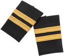Vanguard 8342205 Epaulet/Shoulder Boards, Black With 2 Gold Stripes.