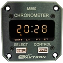 Davtron 1086-850-28V Chronometer/M850 Digital Clock With 28V Lighting. Displays Universal Time, Local Time And Flight Time. 2 1/4 Front Mount, 2 Button Control.