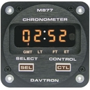 Davtron 1096-877-5V Chronometer/Led Digital Clock With 5V Illuminating Buttons. Displays Universal Time, Local Time, Flight Time, And Elapsed Time. 2 1/4 Internal Mount