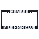 EDMO FRAME-3 Member Mile High Club/License Plate Frame