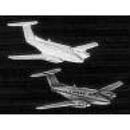 Johnson'S Jewelry KNG2-TG Gold King Air 200 Pin