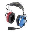 EDMO PA-1151ACB PILOT USA HEADSET/CHILD(BOY)/MONO/STEREO/FLEX BOOM/AUDIO IN/RED & BLUE EAR CUPS