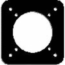 Forbes RP-2 Instrument Reducer Plate From A Gyro To 3 1/8 Diameter,Heat-Treated Aluminum, Black Anodize Finish.