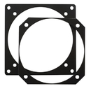 Forbes RP-ATI3 Instrument Reducer Plate/Heat-Treated Aluminum, Black Anodize Finish. 3Ati To 3 1/8