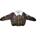 Flightline YOUTH-08 Jacket/Patches/Brown