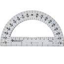 Acme United ACM11200 Protractor 6In 180 Degree Clear