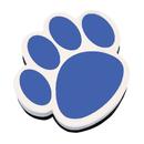 Ashley Productions ASH10002 Magnetic Whiteboard Eraser Blue Paw