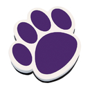 Ashley Productions ASH10005 Magnetic Whiteboard Eraser Purple Paw