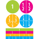 Ashley Productions ASH10062 Math Die Cut Magnets Beginning - Fractions