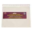 Ashley Productions ASH10405 Clear View Self-Adhesive 12/Pk Document Pocket 9 1/2 X 12